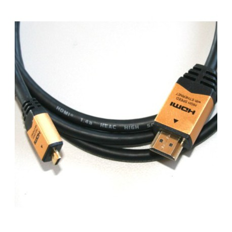 RO&CO - ROHD40 Cable micro HDMI(D) - HDMI(A) 3D + ETHERNET Longitud 1,5 mts