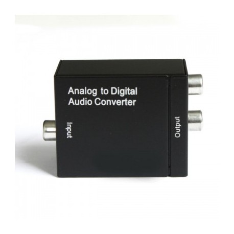 VS-ADC- Convertidor 2 RCA a Optico/Coaxial digital