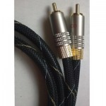 Cable 2 rca - 2 rca stereo. 0,5 mts