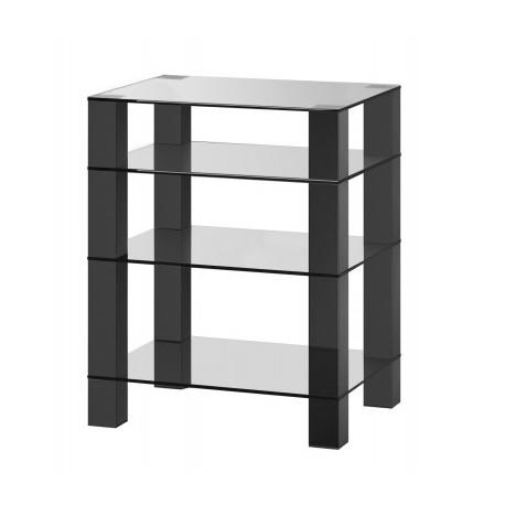 mueble hifi 4 estantes Sonorus RX5040 transparente negro