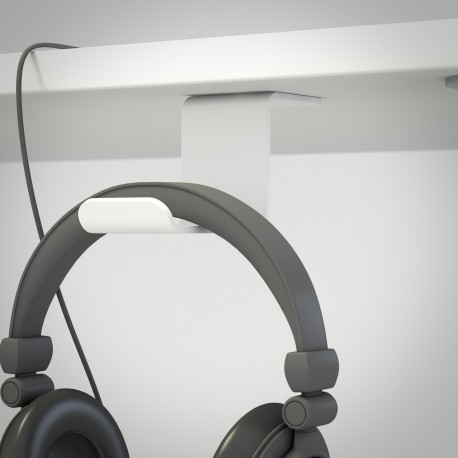 HEADSET TABLE - Soporte de sobremesa para auriculares. Color blanco.