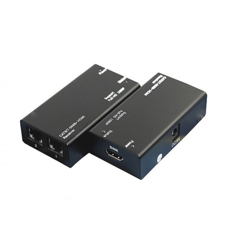 CAT-6- Extensor de señal HDMI hasta 60 mts con 2 cables Ethernet (CAT 5/6)