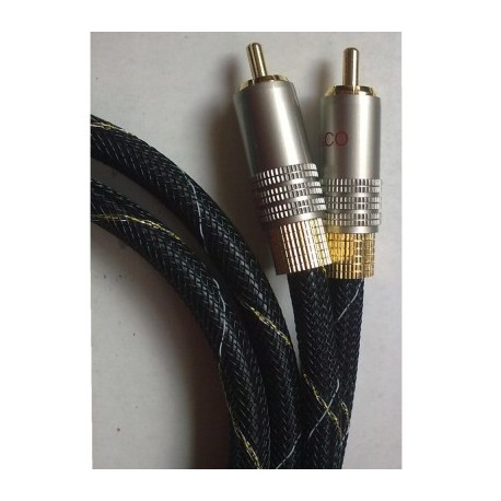 Cable 2 rca - 2 rca stereo: 1,0 mts