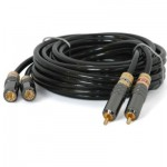 Cable 2 rca - 2 rca stereo. 8,0 mts