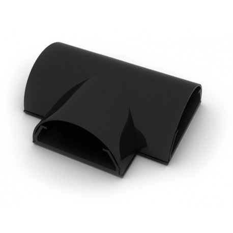 ATT50 N Union en T para pared. Ancho 5,0 cms. Color negro